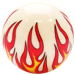 Custom Ivory Flame Custom Shift Knob Opaque